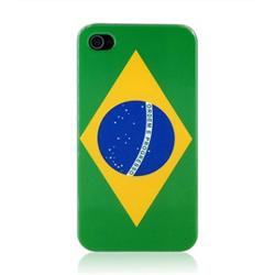 Imagem de Capa para iPhone 4 e 4S de Plástico - Brasil