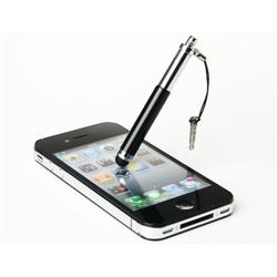 Imagem de Caneta Stylus para Smartphone e Tablet Compacta com Plug Fone de Ouvido - Preto