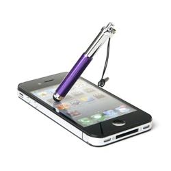 Imagem de Caneta Stylus para Smartphone e Tablet Compacta com Plug Fone de Ouvido - Roxo