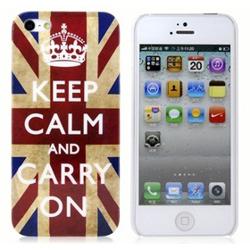 Imagem de Capa para iPhone 5 e 5S de Plástico - Keep Calm and Carry On