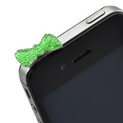 Imagem de Plug Pingente Lacinho para Proteção Contra Poeira 3,5mm - Verde