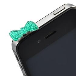 Imagem de Plug Pingente Lacinho para Proteção Contra Poeira 3,5mm - Azul
