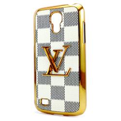 Imagem de Capa para Galaxy S4 Mini i9190 e S4 Mini Duos i9192 Luxo Louis Vuitton - Bege