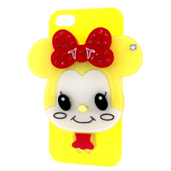 Imagem de Capa para iPhone 5 e 5S de Plástico com Espelho - Minnie Amarela