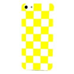 Imagem de Capa para iPhone 5C de TPU Xadrez - Amarelo