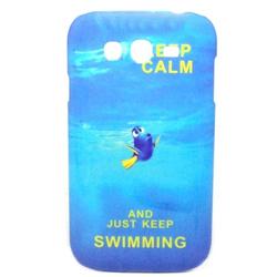 Imagem de Capa para Galaxy Gran Duos i9082 de Plástico - Keep Calm and Just Keep Swimming