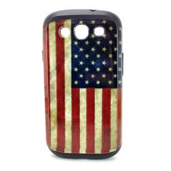 Imagem de Capa para Galaxy S3 i9300 de TPU com Estampa em Plástico - USA