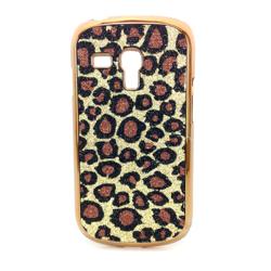 Imagem de Capa para Galaxy S3 Mini i8190 de Plástico com Glitter - Leopardo Dourado