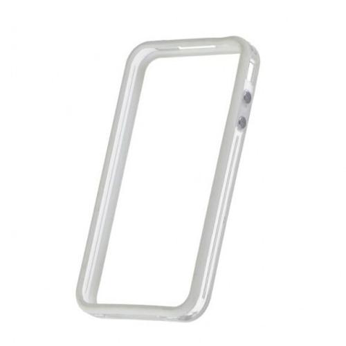 Imagem de Bumper para iPhone 4 e 4S de TPU - Dual Color Branco