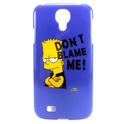 """Imagem de Capa para Galaxy S4 i9500 de Plástico - Bart Simpsom """"Dont Blame Me"""""""