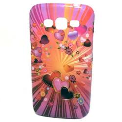 Imagem de Capa para Galaxy Gran 2 Duos G7102 de TPU com Strass - Corações Pink e Laranja