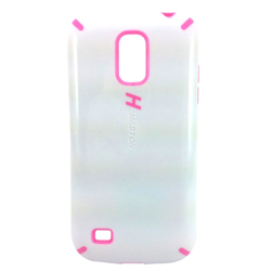 Imagem de Capa para Galaxy S4 Mini i9190 Anti Shock H Maston - Branca com Rosa