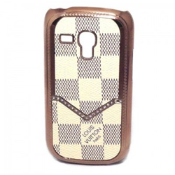 Imagem de Capa para Galaxy S3 Mini i8190 de Luxo - Louis Vuitton Xadrez Bege