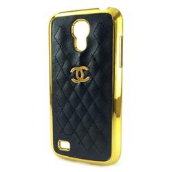 Imagem de Capa para Galaxy S4 Mini i9190 de Plástico com Borda Dourada - Chanel Preta