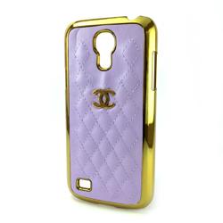 Imagem de Capa para Galaxy S4 Mini i9190 de Plástico com Borda Dourada - Chanel Lilás