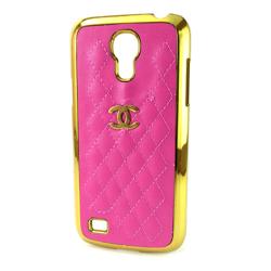Imagem de Capa para Galaxy S4 Mini i9190 de Plástico com Borda Dourada - Chanel Rosa