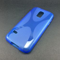 Imagem de Capa para Galaxy S5 Mini G800 de TPU - X Azul