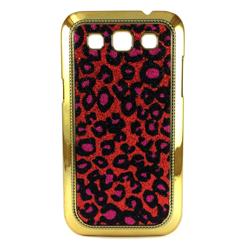 Imagem de Capa para Galaxy Win Duos i8552 de Plástico com Glitter - Onça Vermelha com Rosa