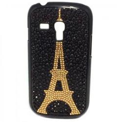 Imagem de Capa para Galaxy S3 Mini i8190 de Plástico com Strass - Torre Eiffel