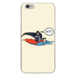 Imagem de Capa para Celular - Super Man e Batman WTF