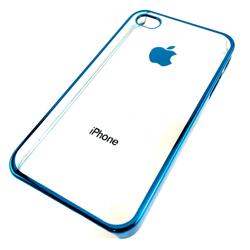 Imagem de Capa para iPhone 4 e 4S de Acrílico com Traseira Transparente - Azul