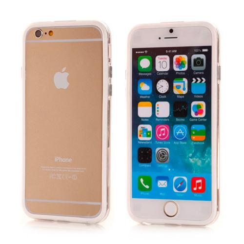Imagem de Bumper para iPhone 6 e 6S de TPU - Dual Color | Transparente com Branco