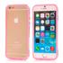 Imagem de Bumper para iPhone 6 e 6S de TPU - Dual Color | Transparente com Rosa