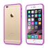 Imagem de Bumper para iPhone 6 e 6S de TPU - Dual Color | Transparente com Lilás