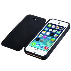 Imagem de Capa para iPhone 6 Plus e 6S Plus de Silicone com Flip - Preta