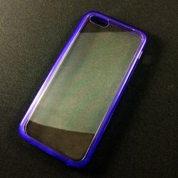 Imagem de Capa para iPhone 5C de Acrílico com Traseira Transparente - Lateral Roxa