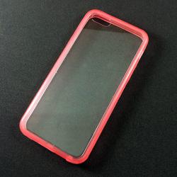 Imagem de Capa para iPhone 5C de Acrílico com Traseira Transparente - Lateral Rosa