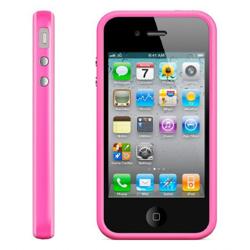 Imagem de Bumper para iPhone 4 e 4S de TPU - Rosa