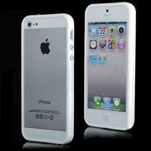 Imagem de Bumper para iPhone 5 e 5S de TPU - Branco