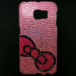 Imagem de Capa para Galaxy S6 Edge G925 de TPU com Strass - Top Rosa