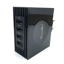 Imagem de Carregador de Tomada com 4 Entradas USB - Kingo Preto