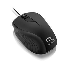 Imagem de Mouse Óptico com fio Emborrachado 1200dpi USB - Multilaser | Preto
