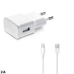 Imagem de Carregador de Parede e Cabo de Dados USB para iPad de 2A - Branco | KinGo