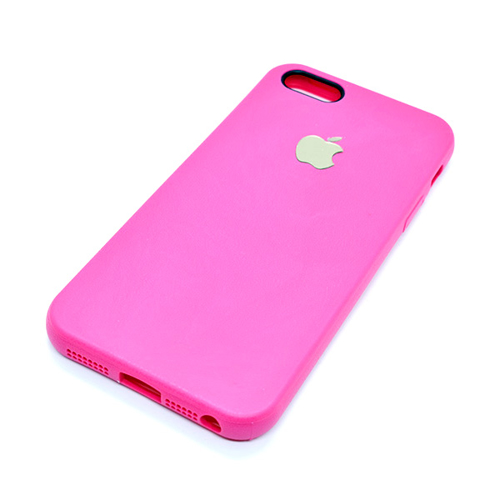 Imagem de Capa para iPhone 5 e 5S de TPU - Símbolo Apple   Rosa