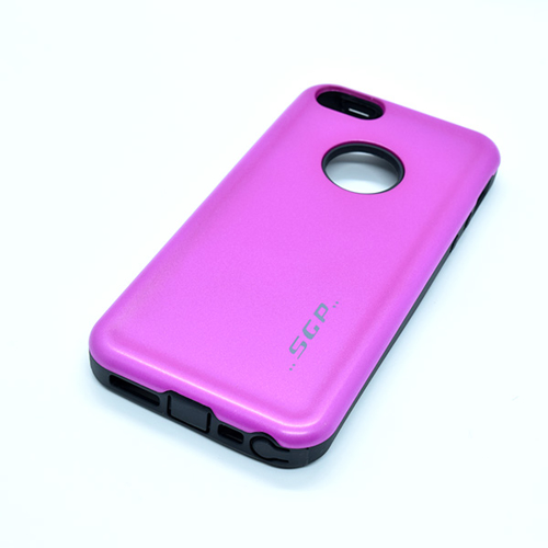Imagem de Capa para iPhone 5 e 5S de Plástico e Silicone - Anti Shock | Rosa