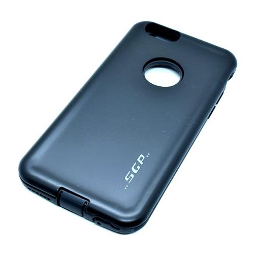 Imagem de Capa para iPhone 6 e 6S de Plástico e Silicone - Anti Shock | Preta