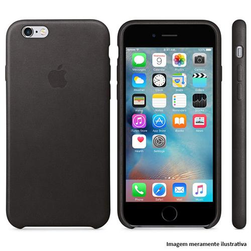Imagem de Capa para iPhone 7 de Couro - Símbolo Apple