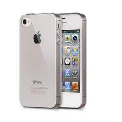 Imagem de Capa para iPhone 4 de TPU Casca de Ovo - Transparente