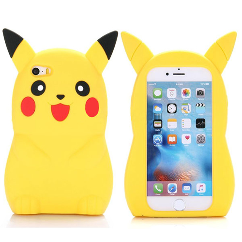 Imagem de Capa para iPhone 6 e 6S de Silicone - Pokemon | Pikachu
