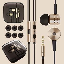 Imagem de Fone de Ouvido Metalizado com Microfone - Cores Diversas