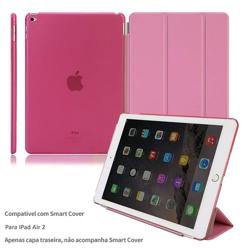 Imagem de Capa para iPad Air 2 traseira de Plástico compatível com Smart Cover - Rosa