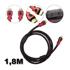 Imagem de Cabo HDMI x HDMI 1,8 metros - Versão 1.4 - 3D | Preto com Vermelho