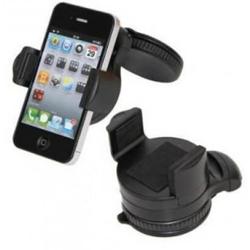 Imagem de Suporte Veicular Smartphone, GPS E PDA Ajustável No Pára-Brisa Do Automóvel - Preto