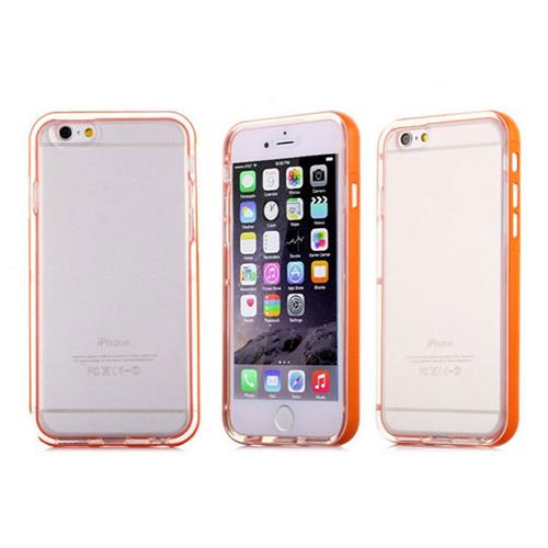 Imagem de Bumper para iPhone 6 e 6S de TPU - Dual Color | Transparente Com Laranja