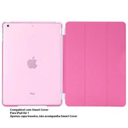 Imagem de Capa para iPad Air 1 traseira de Plástico compatível com Smart Cover - Rosa Transparente