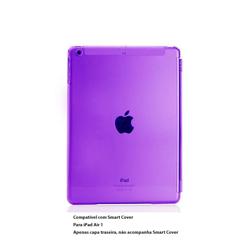 Imagem de Capa para iPad Air 1 traseira de Plástico compatível com Smart Cover - Roxo Transparente